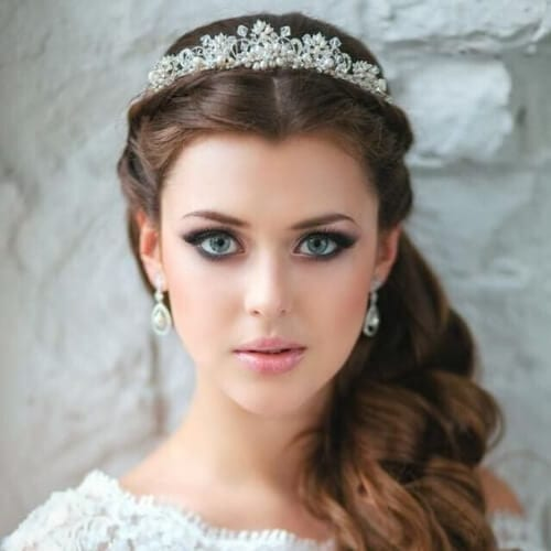 tiara wedding updos