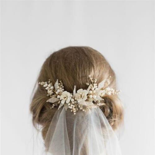 veil wedding updos