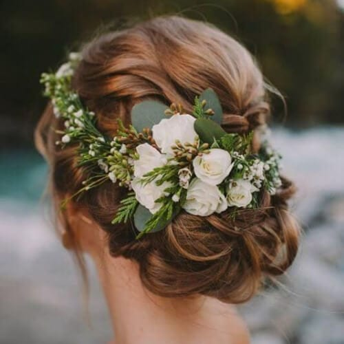 winter wedding updos