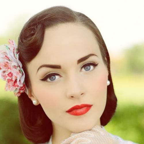 40s prom hairstyles for short hair
