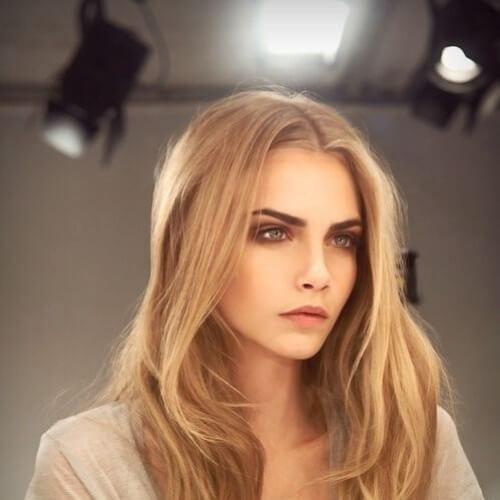 Cara Delevingne blonde hairstyles