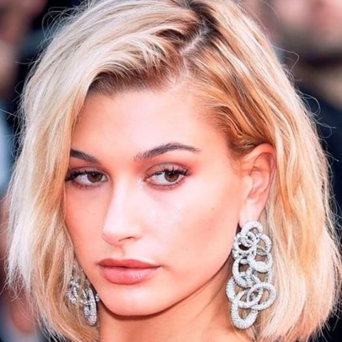 Hailey Baldwin prom hairstyles for short hair