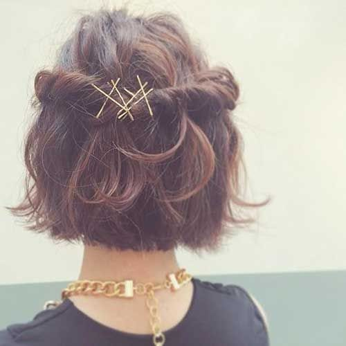 bobby pins prom hairstyles for short hair