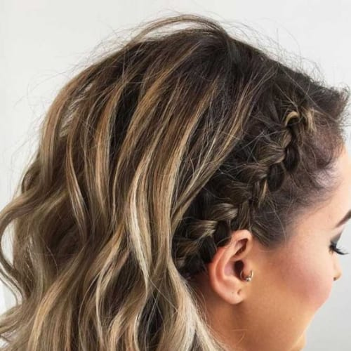 braid crown prom hairstyles for short hair