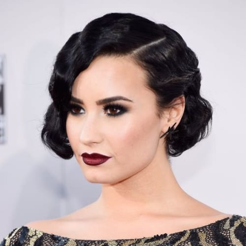 demi lovato prom hairstyles for short hair