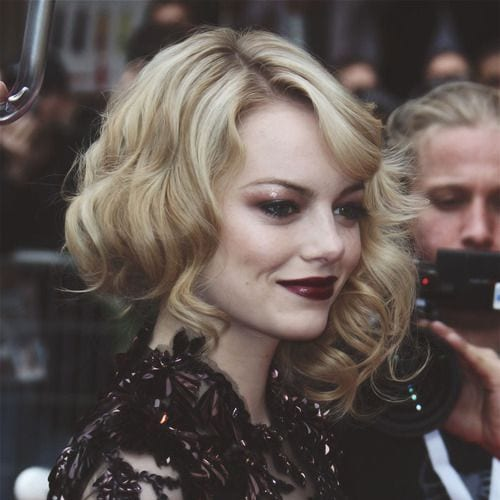 emma stone prom hairstyles for short hair