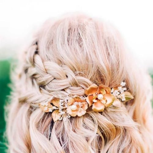 flowers prom hairstyles for shor hair