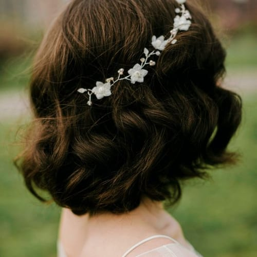 flowers prom hairstyles for short hair