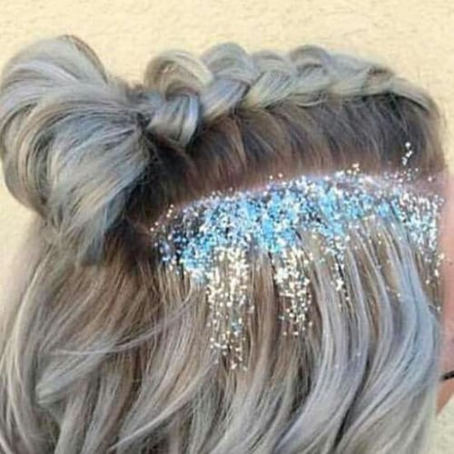 glitter prom hairstyles for short hair