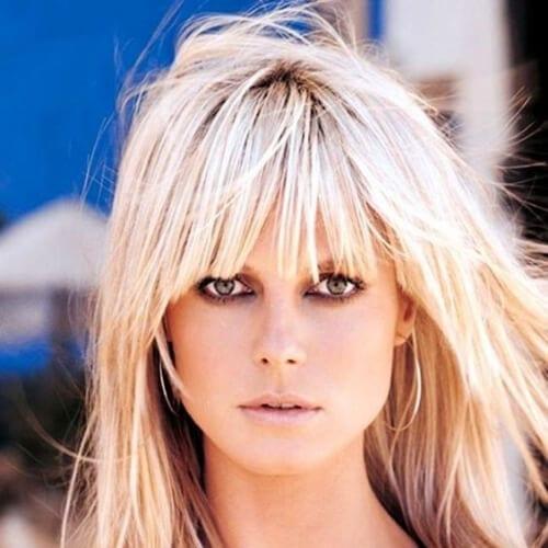 heidi klum blonde hairstyles