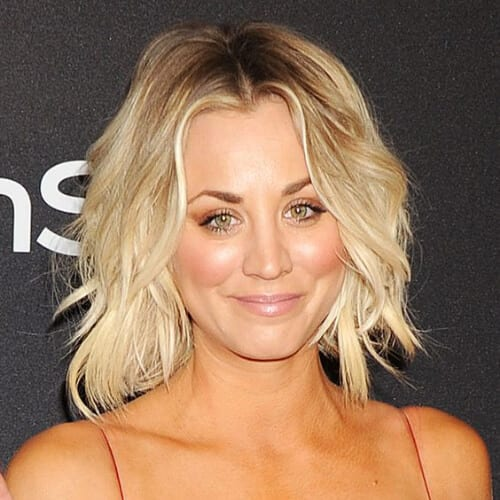 kaley cuoco blonde hairstyles