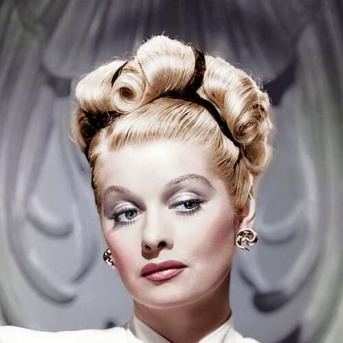 lucille ball blonde hairstyles