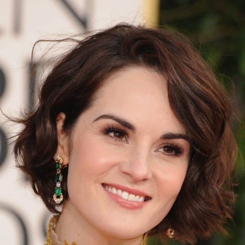 michelle dockery prom hairstyles for short hair