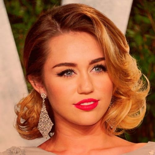 miley cyrus prom hairstyles for short hair