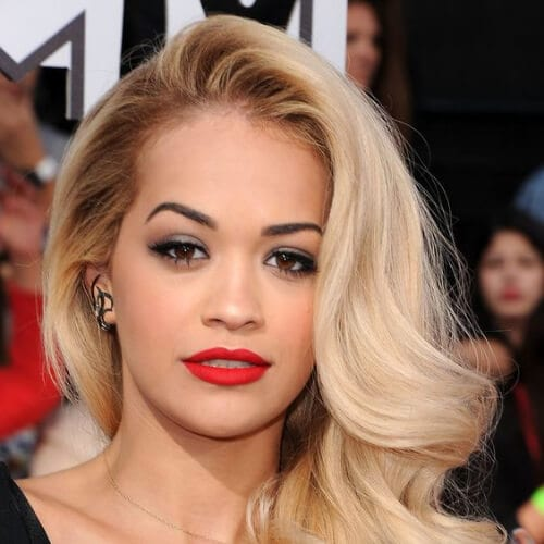 rita ora blonde hairstyles