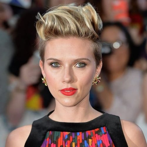 scarlet johansson prom hairstyles for short hair