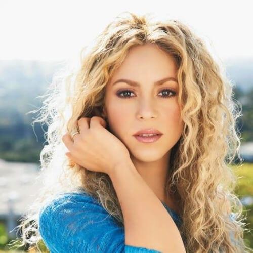 shakira blonde hairstyles