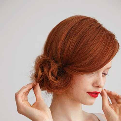 side bun prom hairstyles for short hair