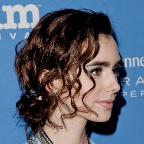 wavy prom hairstyles for short hair