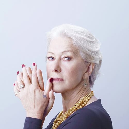 Helen Mirren mother of the bride updos