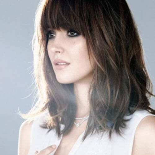 Rose Byrne medium length haircuts for thick hair