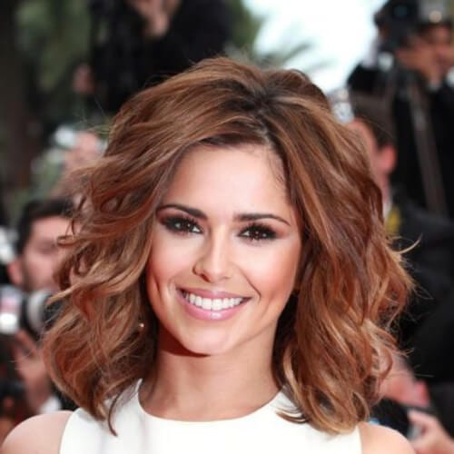 cheryl cole medium length haircuts for thick hair