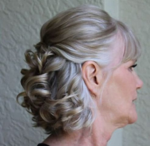 curls mother of the bride updos