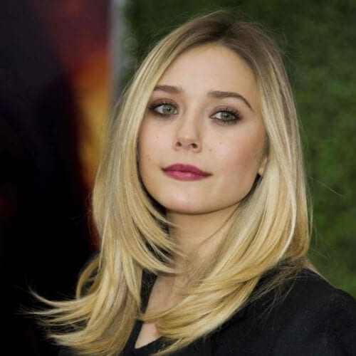 elizabeth olsen medium length haircuts for thick hair