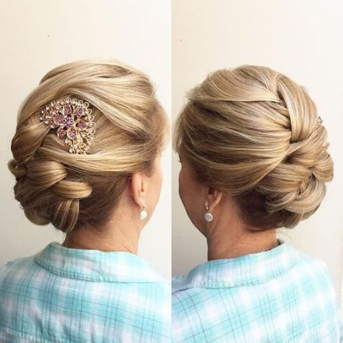 hair piece mother of the bride updos
