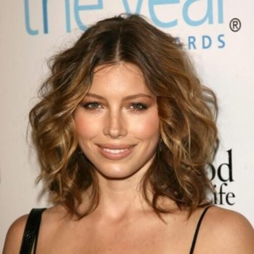 jessica biel medium length haircuts for thick hair