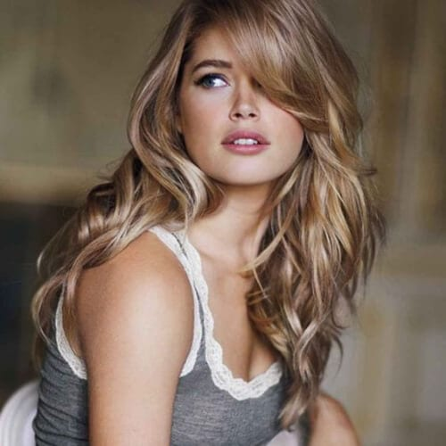 kate upton medium length haircuts for thick hair
