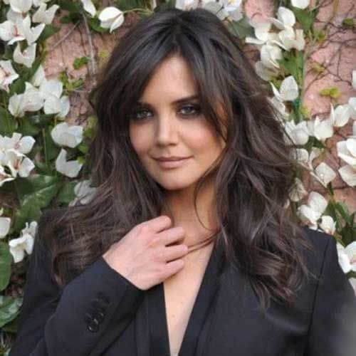 katie holmes medium length haircuts for thick hair