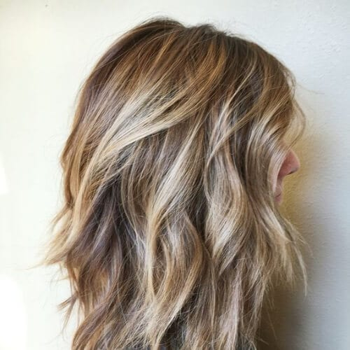 messy wavy medium length haircuts for thick hair
