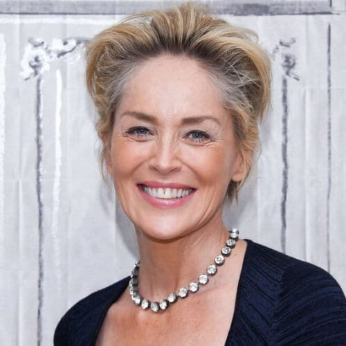 sharon stone mother of the bride updos