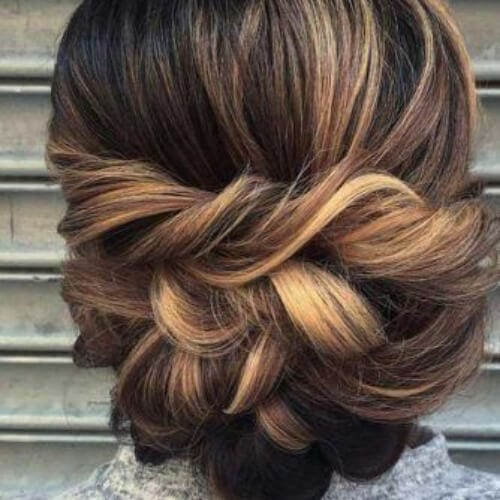 stacked twists mother of the bride updos