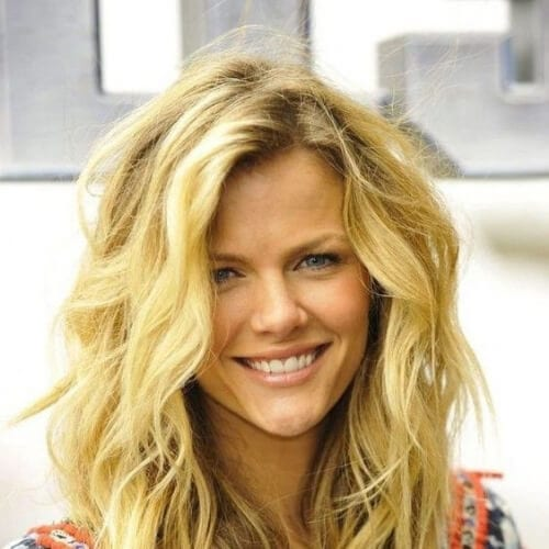 sunny blonde medium length haircuts for thick hair