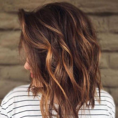 50 Intense Dark Hair With Caramel Highlights Ideas All