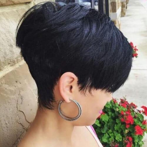 Extra short stacked bob haircut