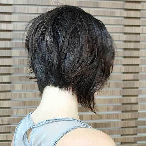 Shaggy Inverted Bob Haircut - Stacked bob haircut