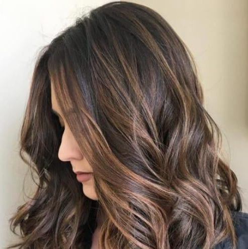 Sprinkled Chocolate and Caramel Balayage Tired of espresso brown hair dark hair with caramel highlights