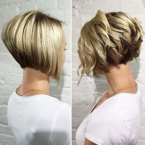 Stunning Curly Short Bob Haircut stacked bob haircut