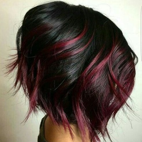 cherry stacked bob haircut