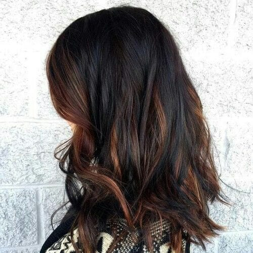50 Intense Dark Hair With Caramel Highlights Ideas All