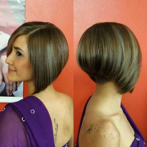 formal stacked bob haircut