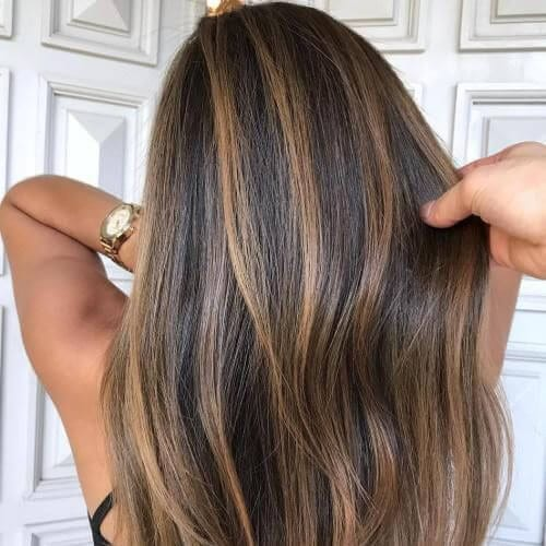 50 delicious dark hair with caramel highlights ideas all women