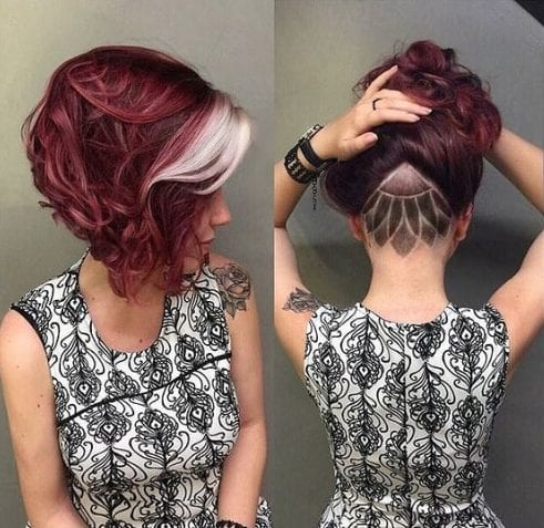 hair design stacked bob haircut