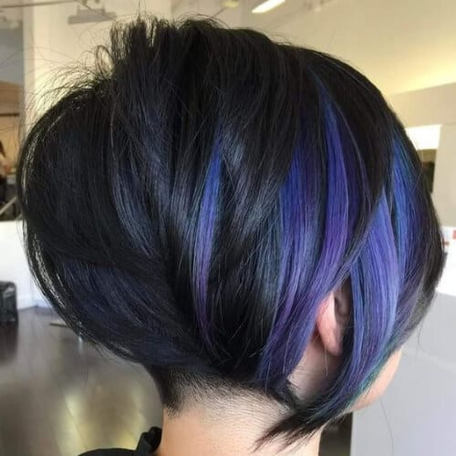 indigo stacked bob haircut