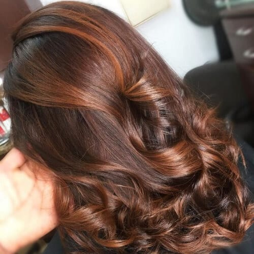 50 Intense Dark Hair with Caramel Highlights Ideas | All ...