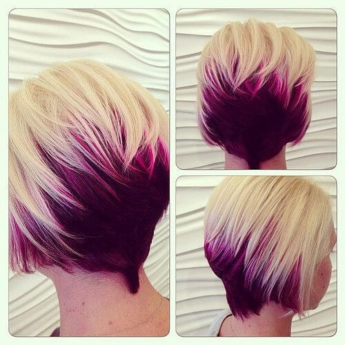 opera mauve stacked bob haircut