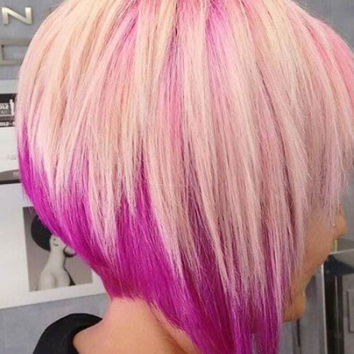 orchid stacked bob haircut